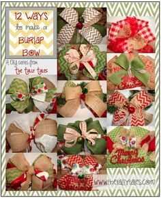 DIY: 12 Ways to Make a Burlap Bow
