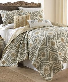 Gold & Gray Tamara Quilt Set