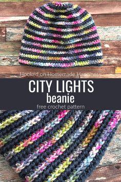Crochet Adult Hat, Easy Crochet Hat, Crochet Beanie Pattern, Crochet Crafts, Free Crochet, Knit Crochet, Crocheted Hats, Crochet Dolls, Knitting Patterns