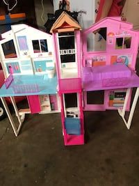 used barbie house with elevator for