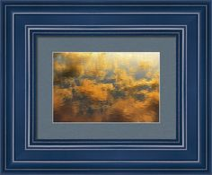 Framed Print featuring the photograph Sunrise Cloud Reflections Abstract by Debra Martz (CUSTOMIZABLE to your liking)