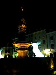 Light exposition Biela noc, Bratislava My Point Of View, Bratislava, Statue Of Liberty, Travel, Statue Of Liberty Facts, Liberty Statue, Viajes, Traveling, Tourism