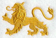 Heraldic Lion design (C9827) from www.Emblibrary.com