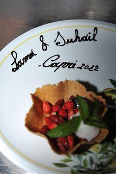 italian wedding desserts Capri, Italy Wedding Welcome Dinner