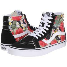 New Vans Mens 10 Hi Reissue Digi Aloha Black White Floral Shoes Sneakers a244ca1d9