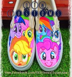 My little pony custom vans by VeryBadThing on DeviantArt Painted Vans, Hand Painted Shoes, Shoe Art, Art Shoes, My Little Pony Shoes, Vans Slip On Shoes, Vanz, Custom Vans, White Shoes