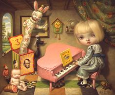 """Mark Ryden """"""""Mark Ryden (born January is an American painter, part of the Lowbrow (or Pop Surrealist) art movement. He was dubbed """"the god-father of pop surrealism"""" by Interview Magazine. Mark Ryden, Art And Illustration, Illustrations, Art Pop, Meat Art, Arte Lowbrow, Ouvrages D'art, Tim Walker, Arte Horror"""