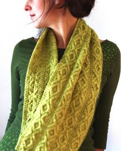 Ravelry: Love and Happiness pattern by Amy Christoffers. Pretty knit infinity scarf.