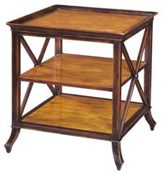 Forest Pines 3-Tier Side Table, Russet