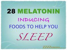 Trouble sleeping? Battle insomnia with melatonin rich foods! Sweet dreams! zzz... #sleep