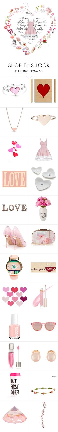 """""""A Girl In Love"""" by fuffa ❤ liked on Polyvore featuring Bling Jewelry, Bristols6, Crate and Barrel, M&S, Sophia Webster, Oasis, Wet Seal, Love you a Latte, Stila and Essie"""