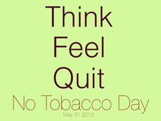 Delyver supports No Tobacco Day - May 31, 2012.