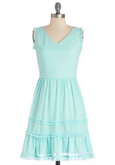 If Ever You Dream Dress. Should you find yourself in a living reverie, we imagine youll also be wearing this pastel blue dress! #aqua #modcloth