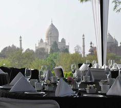 Luxury Dining overlooking Taj Mahal | Maharajas' Express