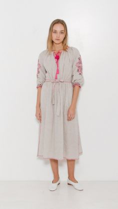Ulla Johnson Sofia Dress in Flax | The Dreslyn