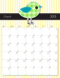 2013 Printable Calendars   iMOM