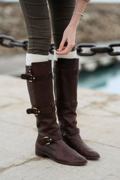 Good pair of riding boots.