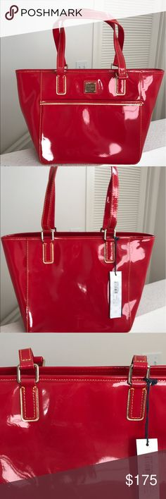 NWT * Dooney & Bourke Satchel, GORGEOUS * NEW!! NWT * Dooney & Bourke Satchel, GORGEOUS * NEW!! Color: Red. Patent Leather. Satchel style, multi pocket interior. Authentic. Bought & never used ~ absolutely GORGEOUS! (Also have matching wallet posted) Dooney & Bourke Bags Satchels