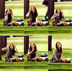 Emma Stone reacting to paparazzi :)