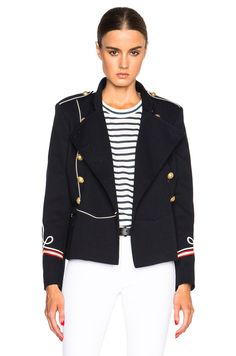 Image 1 of Isabel Marant Etoile Milford Navy Suits Jacket in Midnight