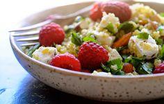 Bulgursalat med feta, spinat og hindbær - Julie Karla, Sunde Opskrifter, Low Carb Opskrifter