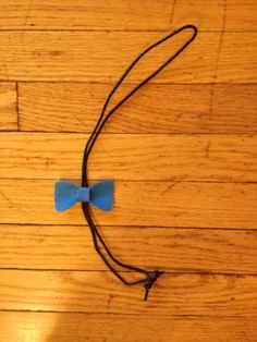 Sew Cute: Bow Bolo Tie. String and material from Thrift store to be extra money savvy