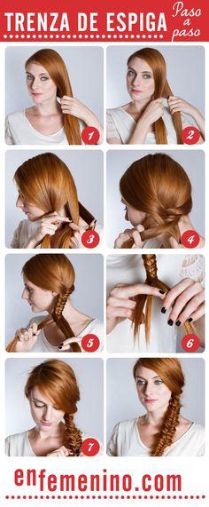 Cómo hacer una trenza de espiga  Beautyeden.com