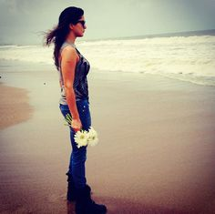 Sunny Leone on the beach #Bollywood #Fashion #Style #Beauty
