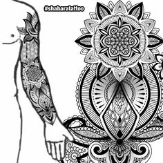 Cool Tattoos For Guys, Love Tattoos, Black Tattoos, Body Art Tattoos, Tribal Tattoos, Geometric Tattoo Stencil, Geometric Sleeve Tattoo, Tattoo Stencils, Ganesh Tattoo