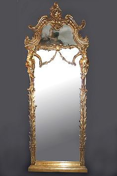 Trumeau Mirror...though I'd get a different painting
