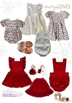 Matching Christmas Looks For Siblings & Cousins. Red Skirts, Christmas Traditions, All Things Christmas, Siblings, Baby Girls, Gingham, Formal Dresses, Kids, How To Wear
