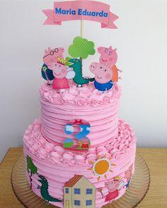 Peppa Pig Decoration Ideas Unique Peppa Pig Dehoje Chantininho Bolopersonalizado Toss a wedding that is Tortas Peppa Pig, Bolo Da Peppa Pig, Peppa Pig Birthday Cake, Peppa Pig Cakes, 3rd Birthday, Special Birthday, Bolo George Pig, Girl Cakes, Themed Cakes