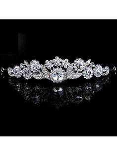 Beauitful Alloy with Zircons and Rhinestiones Bridal Headpiece