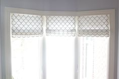 Image result for faux folded roman shade valance