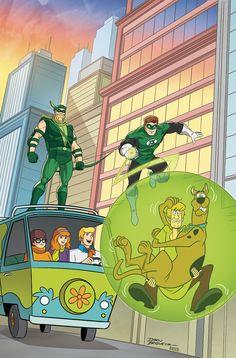 Shop for Scooby Doo Team Up from DC Comics - written by Sholly Fisch. Comic book hits store shelves on April 2017 Cartoon Crossovers, Cartoon Tv, Cartoon Shows, Cartoon Drawings, Scooby Doo Cartoon Network, Scooby Doo Images, Arte Dc Comics, Batman Comics, Funny Comics