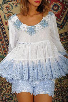Antica Sartoria Blouse 100% Cotton One Size