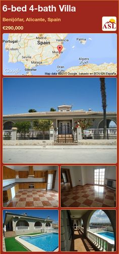 Villa for Sale in Benijófar, Alicante, Spain with 6 bedrooms, 4 bathrooms - A Spanish Life Valencia, Portugal, Alicante Spain, Tapas Bar, Bbq Area, Central Heating, Eat In Kitchen, Entrance Hall, Double Bedroom