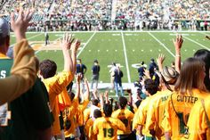If you're a freshman at Baylor University, this is your view for every single home game. #SicEm