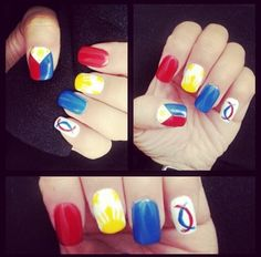 Red philippine flag nail art my nail art addiction pinterest philippine flag nail art prinsesfo Images