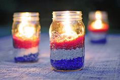 Easy DIY Red White and Blue Party Decoration - She Wears Many Hats