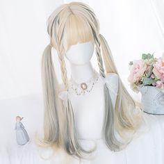 Kawaii Hairstyles, Pretty Hairstyles, Wig Hairstyles, Korean Hairstyles, Short Hairstyle, Anime Wigs, Anime Hair, Cosplay Hair, Cosplay Wigs