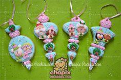 Myri's Ornament Cookies - Cute Santa & Penguins, etc