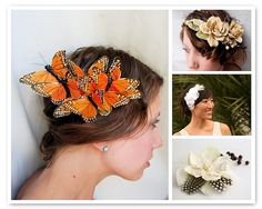 Love the butterflies.  Not just for wedding hair either.