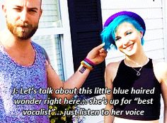 She is THE blue haired wonder