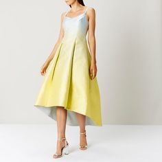 a717793b6f9a COAST Neha ombre jacquard high low summer prom / ball / wedding dress size  18   eBay