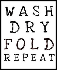 Laundry room printable. Also shows a good idea of how to make wall stickers appear bigger. Put a frame around them!