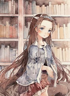 watercolor illustration 背影女孩-零届0rz__涂鸦王国插画