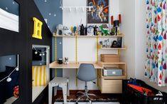 O arquiteto Maurício Arruda transformou o quarto do Henrique, de 5 anos, em um lugar mágico, com muito STAR WARS e claro, MOOUI! Confira no nosso blog http://blog.mooui.com.br