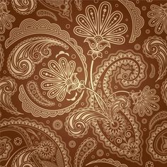 Best Paisley I found - What you see in cream would be your green, what is brown would be your cream paper.