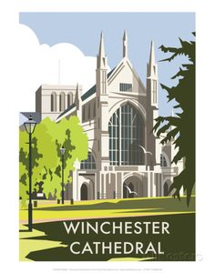 Winchester Cathedral - Dave Thompson Contemporary Travel Print Posters by Dave Thompson - AllPosters.co.uk